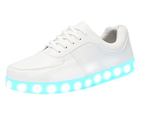 LATH.PIN Unisex LED Leuchtend Sneaker Turnschuhe Sportschuhe 7 Farbe Wechsel