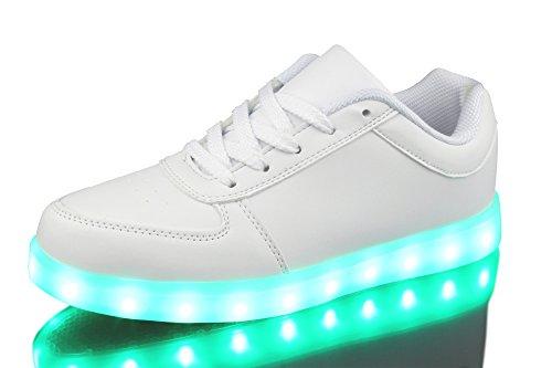 Retwin LED Sneaker Farbwechsel Unisex Damen Herren Sport Turnschuhe Weiß 1242 Größe 40