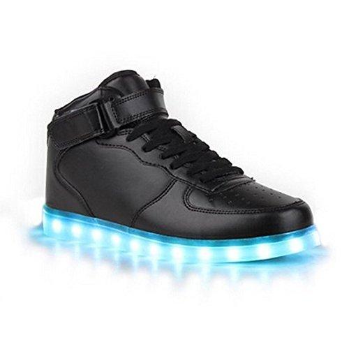 iFresh Unisex Freizeit Leuchtende LED Sneaker Sport Schuhe mit Turnschuhe Farbwechsel für Party Tanzen Rollbrett