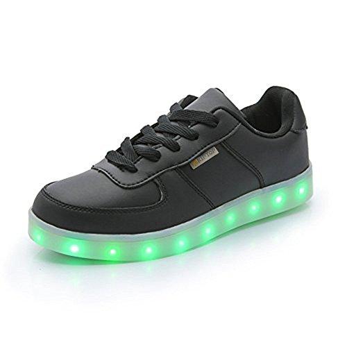 COOLER 7 Farbe USB Aufladen LED Leuchtend Sport Schuhe Schwarz weiß Sneaker für Unisex-Erwachsene Herren Damen für Damen Herren