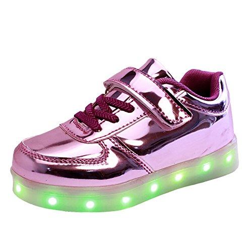 Free Fisher Jungen/Mädchen LED Leuchtend Sportschuhe Sneaker Turnschuhe, Violett, Gr. 30(Herstellergröße: 30)