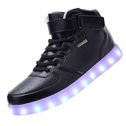 COOLER Unisex 7 Farbe Farbwechsel USB Aufladen LED Leuchtend High-top Sport Schuhe Hoch Sneaker Turnschuhe f¨¹r Damen Herren